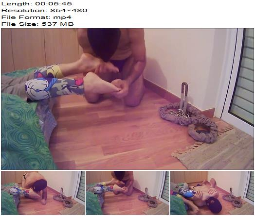 Katia and Michelle home video  The ignored foot slave licks my sweaty feet preview
