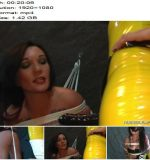 Lady Bijou, Jill starring in video 'Latex Sub Jill Bound and Penetrated by Lady Bijou and Her Strap-on' of 'Amator' studio - Rope Bondage, Dildo