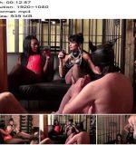 Lady Sahara, Carmen Rivera, Lady Natalie Black, Slave DD starring in video 'ABSOLUTE FEMDOM (6 of 9)' of 'Carmen Rivera' studio - Blindfold, Bondage