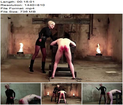 Miss Cheyenne  Devilish 666 Cane Strokes  Part 1  Caning preview