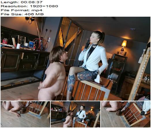 Miss Melisande Sin - Mistress Melisande Uses Her Sub (1080 HD) - Human Ashtray - Smoke, Fishnets