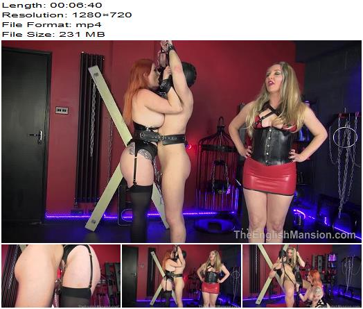 Miss Zara DuRose and Mistress Sidonia starring in video 'Punished Fuck Puppets – Part 2 ' of 'The English Mansion' studio  - Dual Domination, Redhead