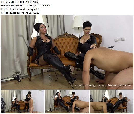 Mistress Alexandra  Our boot bitch  Mistress Ezada Sinn  Boot Worship preview