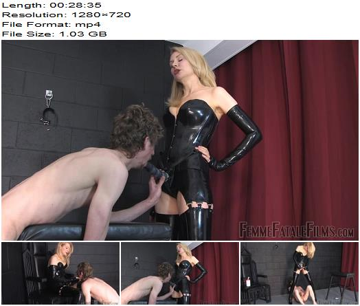Mistress Eleise starring in video 'Anal Fuck toy' of Femme Fatale Films  - Online, Strapon Worship
