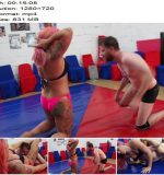 Mixed Wrestling Zone - Kat Max Vs. Dave - Say You Submit - Femdom, Female Domination