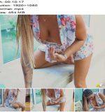 'Sun Lounging – Teasing' of 'DownBlouse Jerk' studio  - Big Nipples, Cock+tease