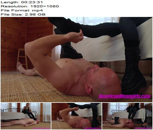 The Mean Girls  Goddess Platinum  You Cant Run From Covid Or Me 1080 HD  Boot Worship preview