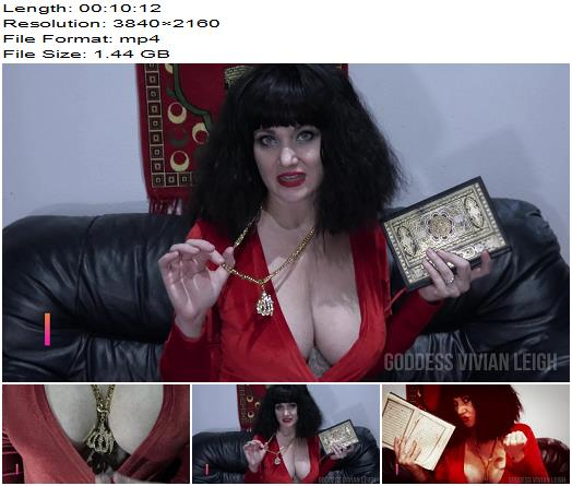 Vivian Leigh - Jerk Your Allah for Satan - Instructions - 4K Femdom, Femdom 4K