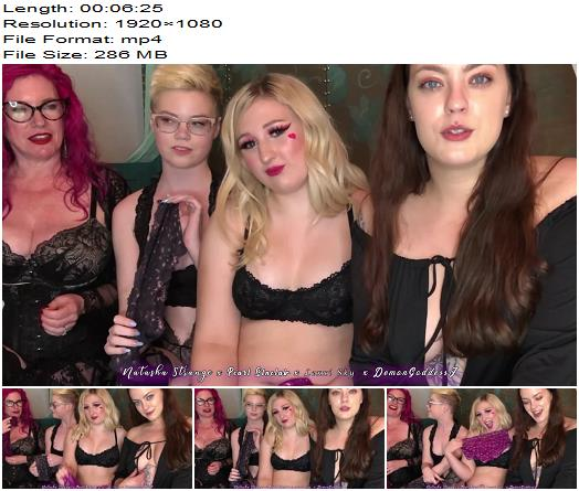 DemonGoddessJ  Panty Posse Four Domme Sissy Humiliation preview