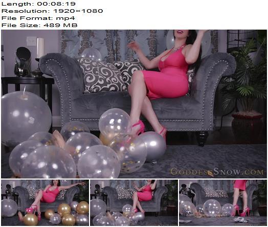 Goddess Alexandra Snow  Balloon Popping  Fetish preview