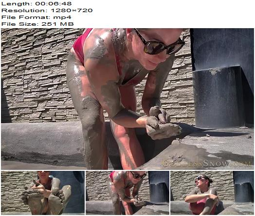 Goddess Alexandra Snow  New Zealand Mud Bath  Fetish preview