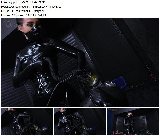 Gynarchy Goddess  Sounded and Stifled Gas Mask Gimp  Urethral Sounds preview