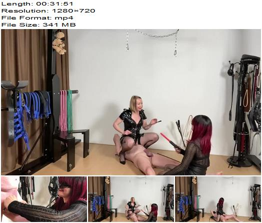 Mistress Noir starring in video Pain Play Lessons with MissV CBT Edition preview
