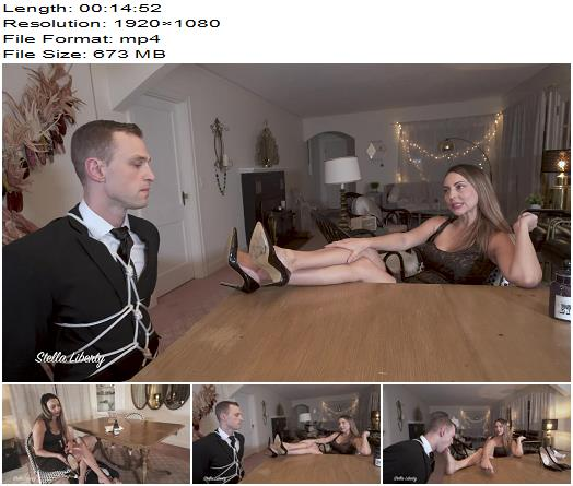 Stella Liberty  Alrik Angel  Foot Worship Secret Agent  Shoe Worship preview