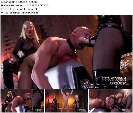 Vicious Femdom Empire  Tag Teamed Slut  Ash Hollywood Lexi Sindel  Pegging preview