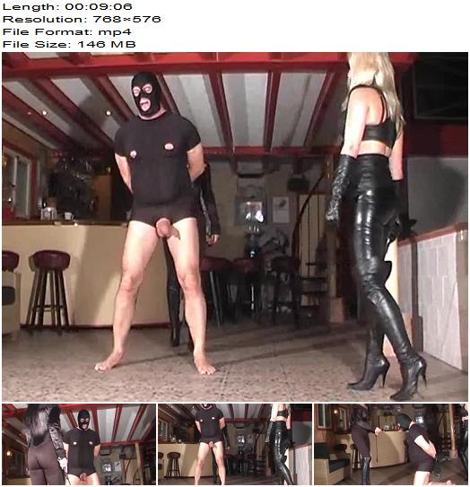 MISTRESS KELLY KALASHNIK  DOMINATRIX DINAH starring in video Ballbusting Team in Action preview