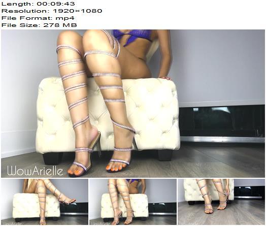 WowArielle  Sparkly High Heels  Fresh Pedicure  Halloween preview