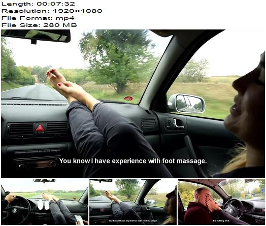 Czech Soles  Her BIG smelly feet in car are a turn on  Foot Worship preview