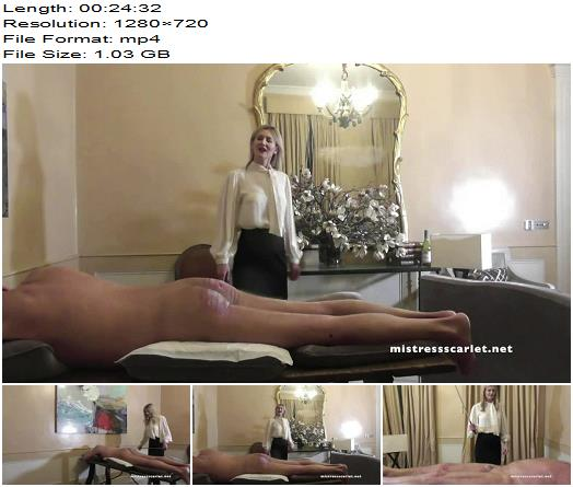 Domina Scarlet starring in video Tabletop Thrashing Extra Minute Action preview
