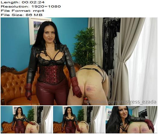 Mistress Ezada Sinn  Every little mistake is punished  Whipping and Caning preview