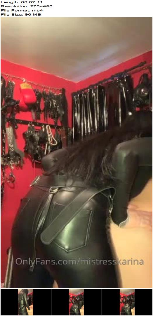 Mistress Karina starring in video Making him cry like a bitch on My cock preview