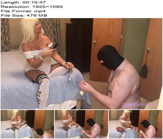 Queen Kasey  Cum Disposal Slave 1080 HD  Cum Eating preview