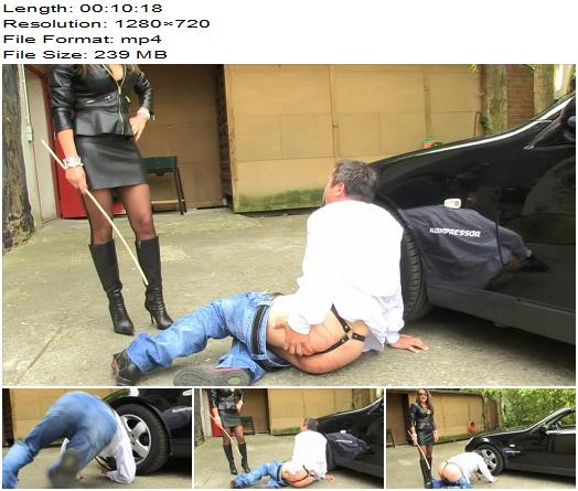 SadoLadies  Caned For Bad Car Cleaning  Lady Pascal  Whipping and Caning preview