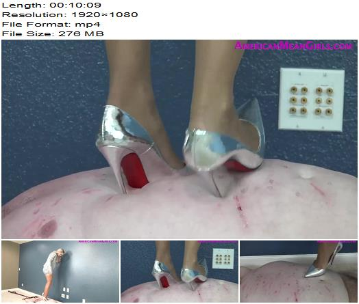 American Mean Girls Dont Fuck With My Money Part Two  Goddess Platinum trampling with high heels preview