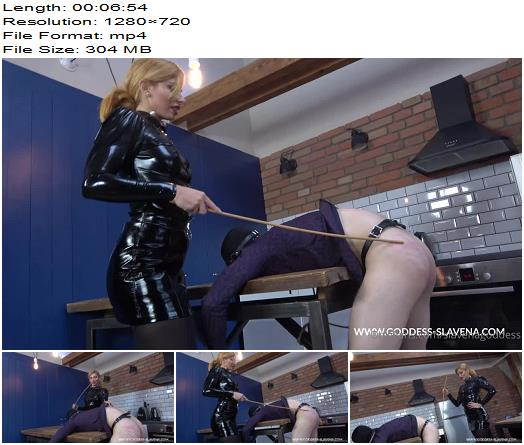 Goddess Slavena  Whats Happened When I Come Home And My Slave Didnt Make The Food 2  Whipping and Caning preview