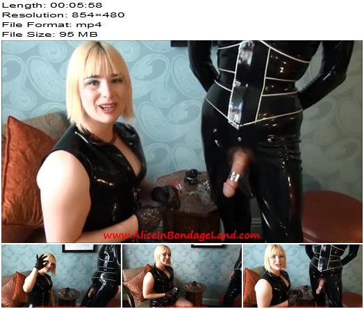 Alice In Bondage Land  Chastity Fashion Show Kalis Teeth  Chastity Tease  Denial preview