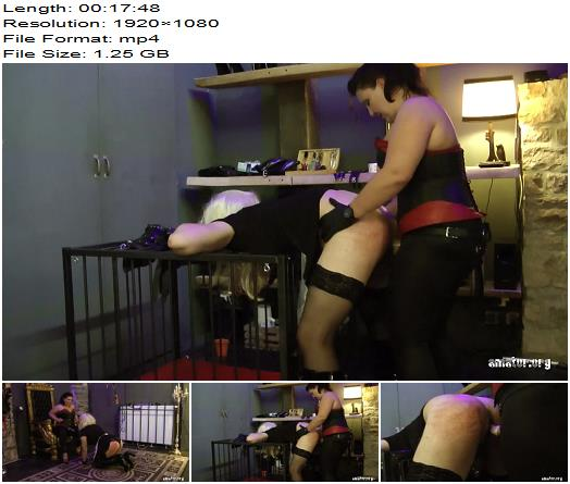 Amator  Lady Shiva  Sissy Training  Part 4  StrapOn preview