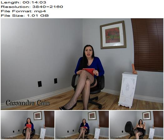 Cassandra Cain  Sph Therapy For Beta Bitch  Masturbation Instruction preview
