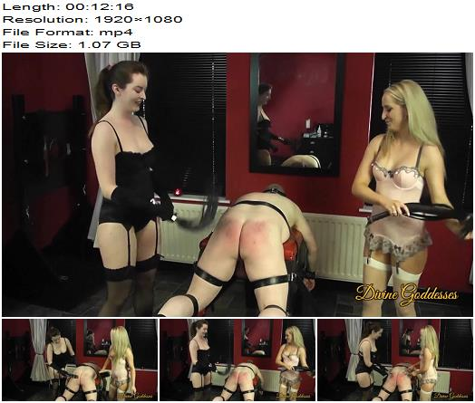 Divine Goddesses Double domination for male slave preview