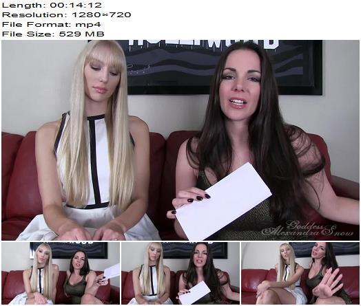 Goddess Alexandra Snow  Dirty Little Secret ft Princess Rene  Blackmail  Findom preview