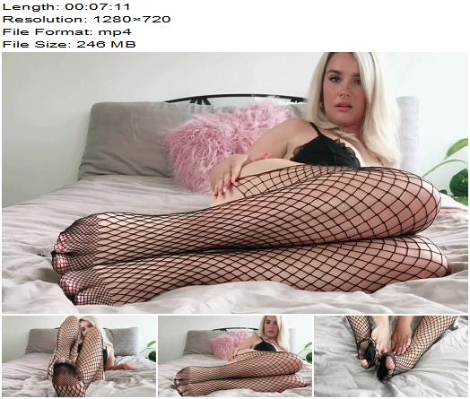 Goddess Lucie x  Fishnet Tights  Goddess Foot Worship  Foot Fetish preview