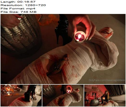 Goddess Slavena  Halloween Session  Hot Wax preview