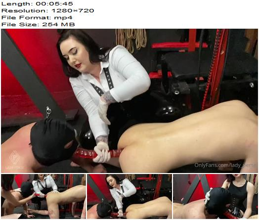 Lady Perse  Double Dildo Oral And Anal Play With This Slaves preview