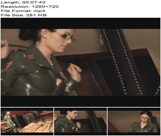Mistress Blackdiamoond  Military wanking contest  Femdom preview