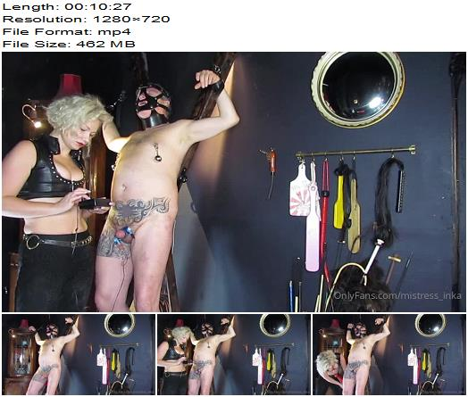 Mistress Inka  Hung On The Cross And Impaled On A Big Cock  Femdom preview