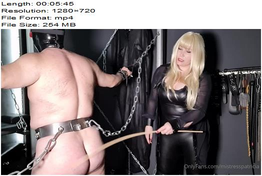 Mistress Patricica  He has earned it  Whipping and Caning preview