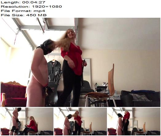 Mistress Sandra  The Weak Pantyhose Boy Cant Touch My Tights Nor His Cock  Full  Femdom preview
