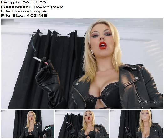 Young Goddess Kim  Smoke slave for Leather Goddess  Femdom Pov preview