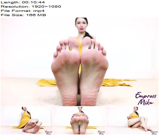 Empress Mika  Foot Slave Addiction Training JOI  Foot Fetish preview