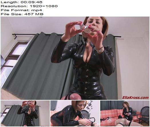 Goddess Ella Kross  Hot Candle Wax on My Slaves Cock and Balls  Femdom preview