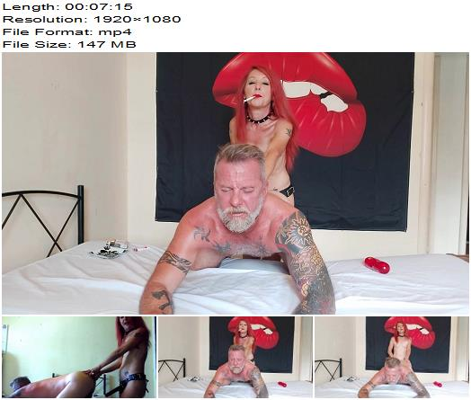 Jizzabelle Trash  Take it like a Man  Amateur Smoking Femdom Pegging  StrapOn preview