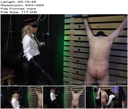 Mistress Ava Von Medisin  Double Carriage Whip punishment  Femdom preview