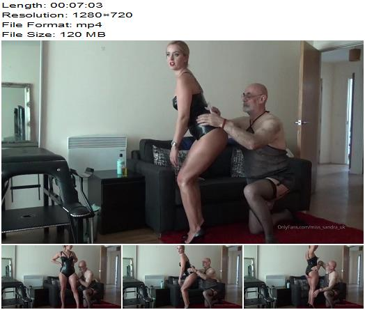 Mistress Sandra  Slave Latex Shinning And Oiling Me  Femdom preview