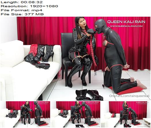 Queen Kali Rain  I tied my sub while he was wearing a full latex catsuit Part 1  Femdom preview