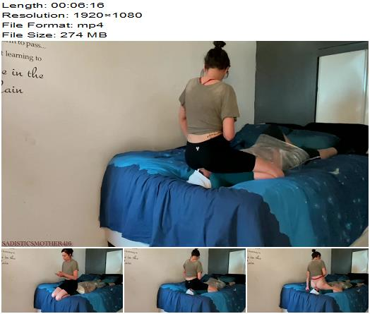 Sadistic Smother 416  Saran wrap Ignore Facesitting featuring Mistress Alexis  Femdom preview