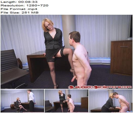 Suburban Sensations Ballbusting  Clayra Beau Interviews a New Assistant HD Full  Ball Abuse preview